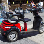 Electric Scooter With Basket