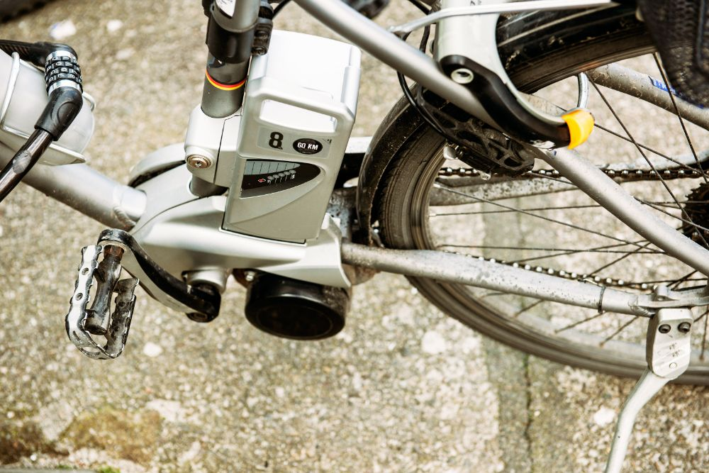 Electric bike motor and pedal