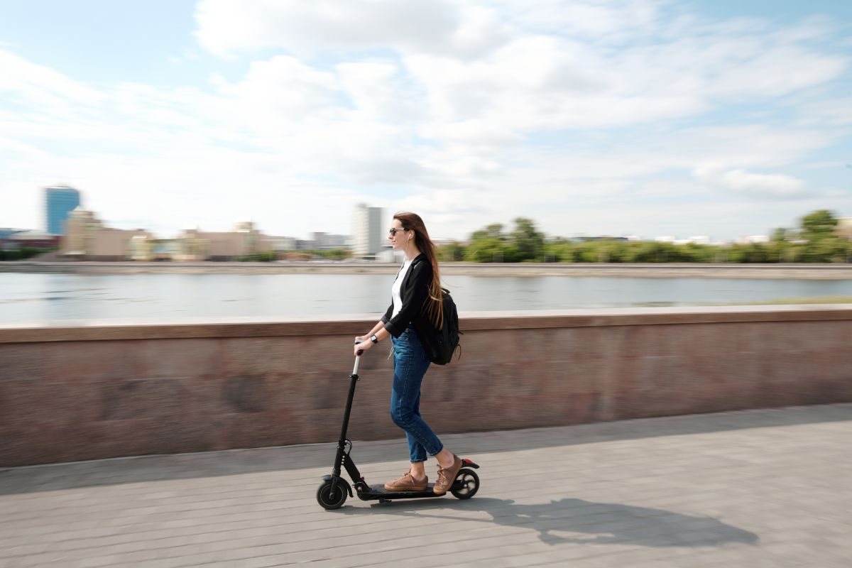 Riding Megawheels S5 Electric Scooter