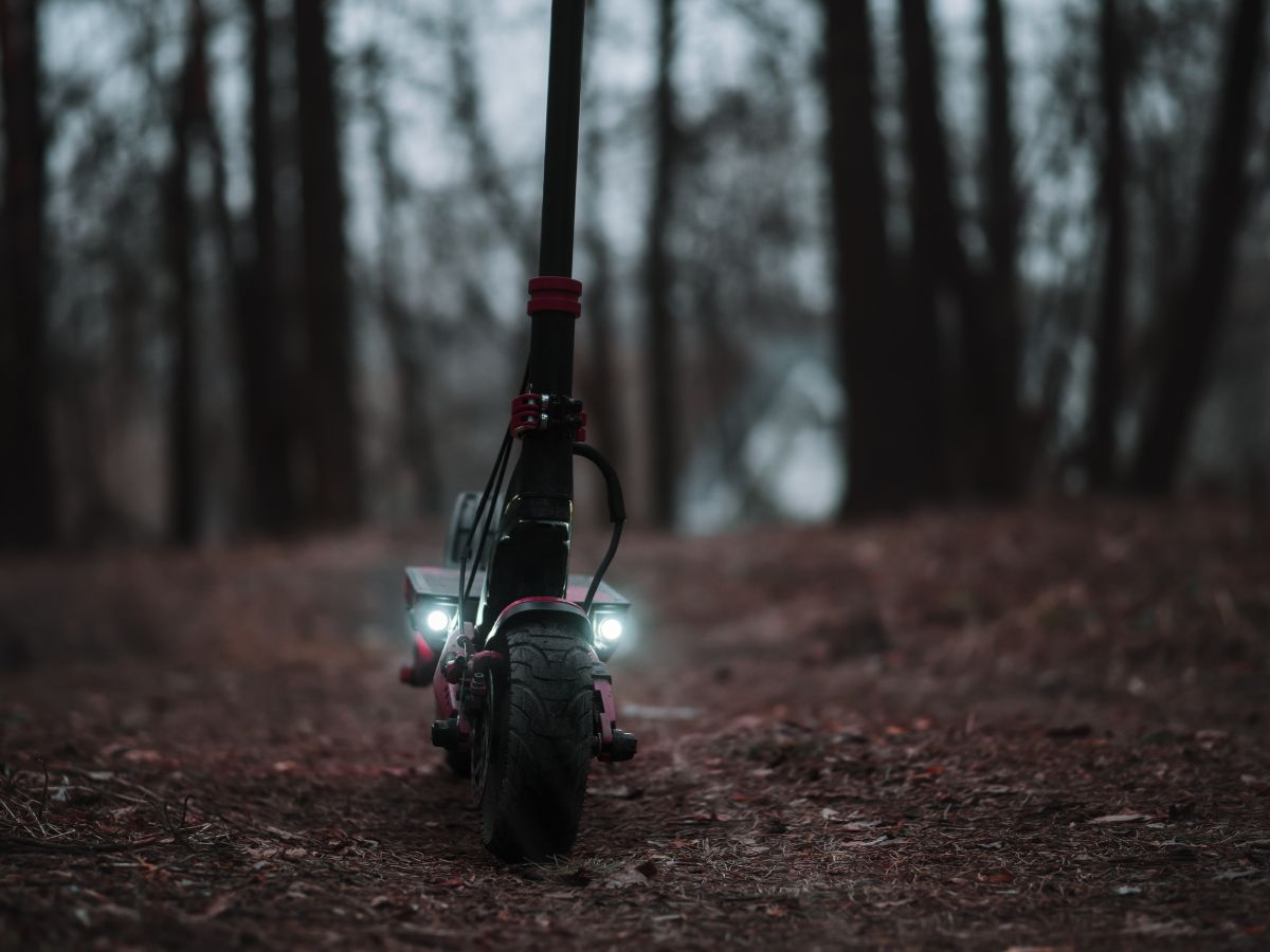 electric scooter with light