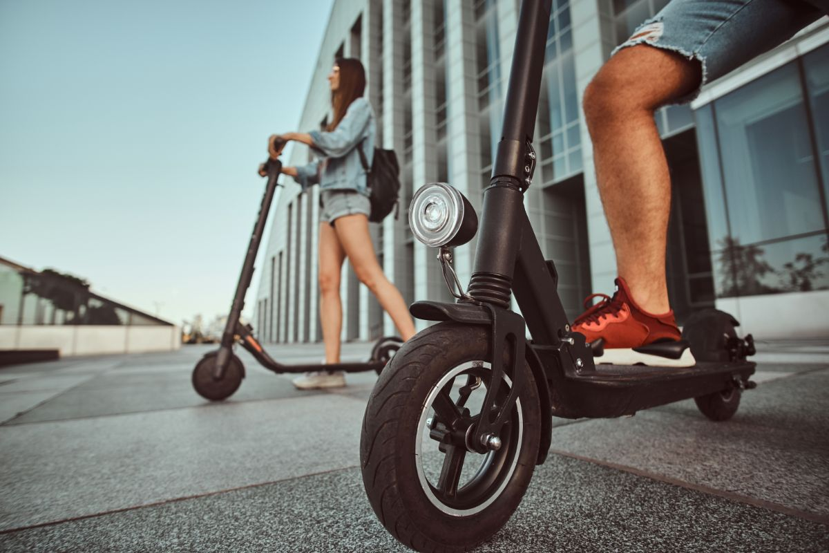 frontal view electric scooter