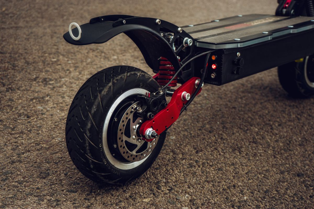 wheels view of electric scooter